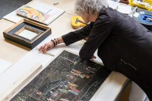 Die Werkstatt Kappich und Piel in der Lagerstrasse 34a in Hamburg - geleitet von Frida Kappich der Rahmenbauerin
